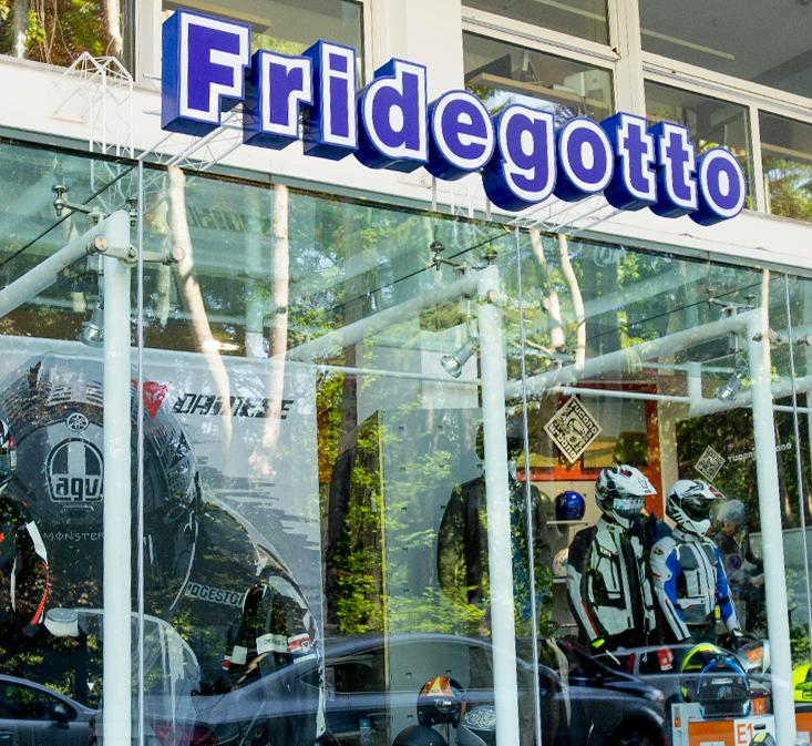 Fridegotto negozio abbigliamento moto Novara
