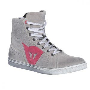 Scarpe moto donna Dainese Street Biker Air Lady Light Gray Coral
