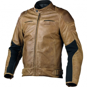 Giacca in pelle moto uomo Dainese R-TWIN tabacco