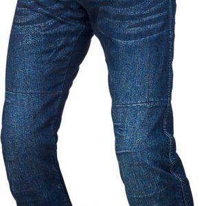 Jeans moto uomo Macna Squad con fibra aramidica Blu scuro