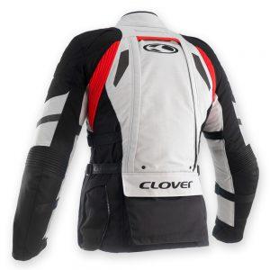 Giacca moto uomo Clover CROSSOVER-3 WP AIRBAG Grigio