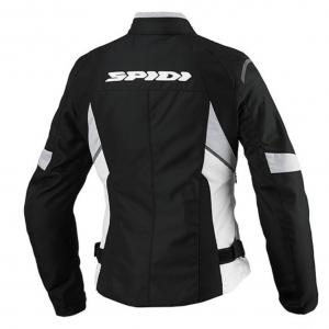 Giacca moto donna in tessuto tecnico Spidi Flash Tex Nero Bianco
